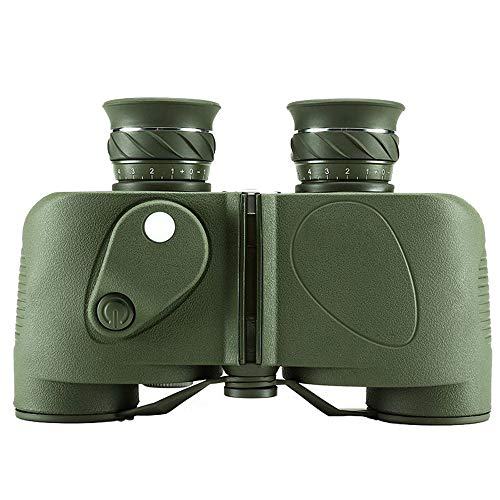 RLIRLI Marine Fernglas für Erwachsene 7x50 Wasserdichtes Fernglas mit Entfernungsmesserkompass BAK4 Prisma Mehrschichtig beschichtet für Vogelbeobachtungsjagdboot, mit Tasche