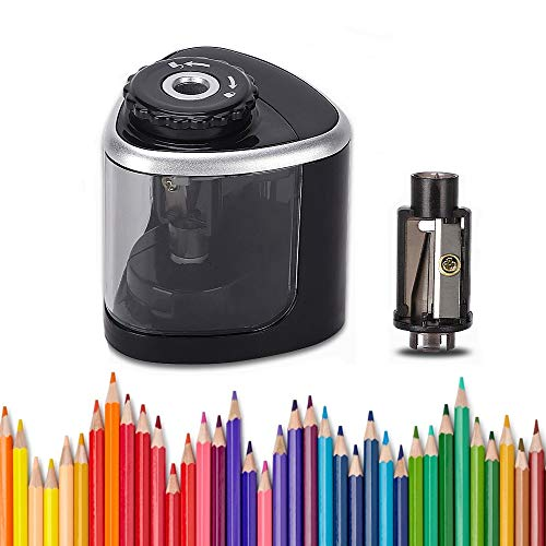 LOBKIN Electric Pencil Sharpener, Battery-Powered, Batteries Included, High-Speed Automatic Pencil...