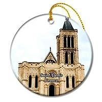 サンドニフランス大聖堂大聖堂クリスマスオーナメントセラミックシート旅行お土産ギフト