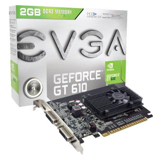 EVGA GeForce GT 610 2048MB DDR3, DVI, Mini-HDMI, Graphics Card (02G-P3-2617-KR)