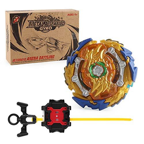 Kingmia Bey Battle Gyro Burst Metal Fusion mit Aufkleber, Launcher, Klassisches Spielzeug fr Erwachsene( B-139)