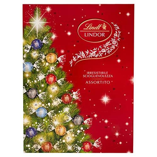 Lindt Calendario Dell'Avvento Lindt Lindor: 24 Praline Lindor Dall'Irresistibile Scioglievolezza, 299 Gr