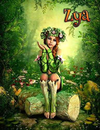 Zya: Woodland Fantasy Theme Personalized Book with 105 Lined Pages That Can be Used as a Journal or Notebook