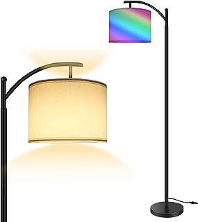 Lampadaire RVB, éclairage sur pied moderne avec commande tactile, 4 Températures de Couleur et luminosité réglables, Lampa...