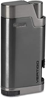 FB Jewels Solid Vertigo Bullet Twin Flame Torch Lighter - Gunmetal