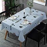 Mantel De PVC Moderno Y Simple, Impermeable Y A Prueba De Aceite, Tapete De Mesa para El Hogar, Rectangular, Desechable, Protección del Medio Ambiente, Mantel Multifuncional