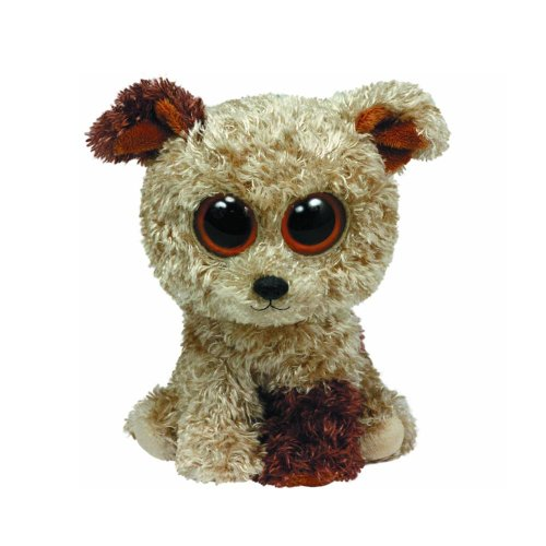 Ty Beanie Boos Rootbeer Terrier Plush Dog - (Solid eye Color) 6 inch