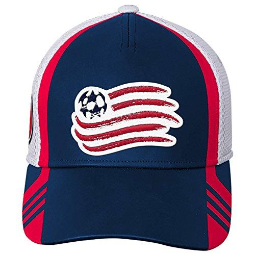 MLS New England Revolution Boys Structured Flex Hat, Dark Navy, One Size (8)