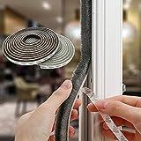 Tooperze Weather Stripping for Door,Self Adhesive Brush Window Seal Strip for House Windows Weatherproof Soundproof Dustproof...