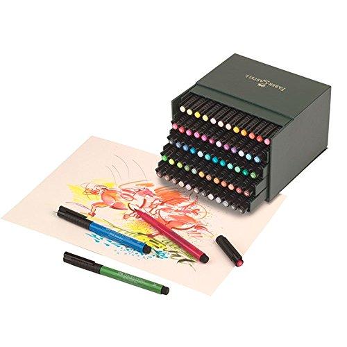 Faber Castell FC-167150 Tekenstift Faber-Castell Pitt Artist Pen Brush Studiobox 60 Stuks