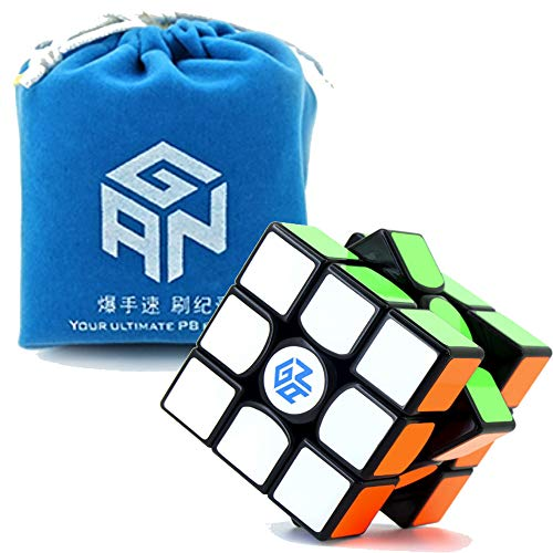 Nitrocubes GAN Gans 356 Air (Master) Black with GAN Bag and Cube Stand New Blue Core 3x3x3