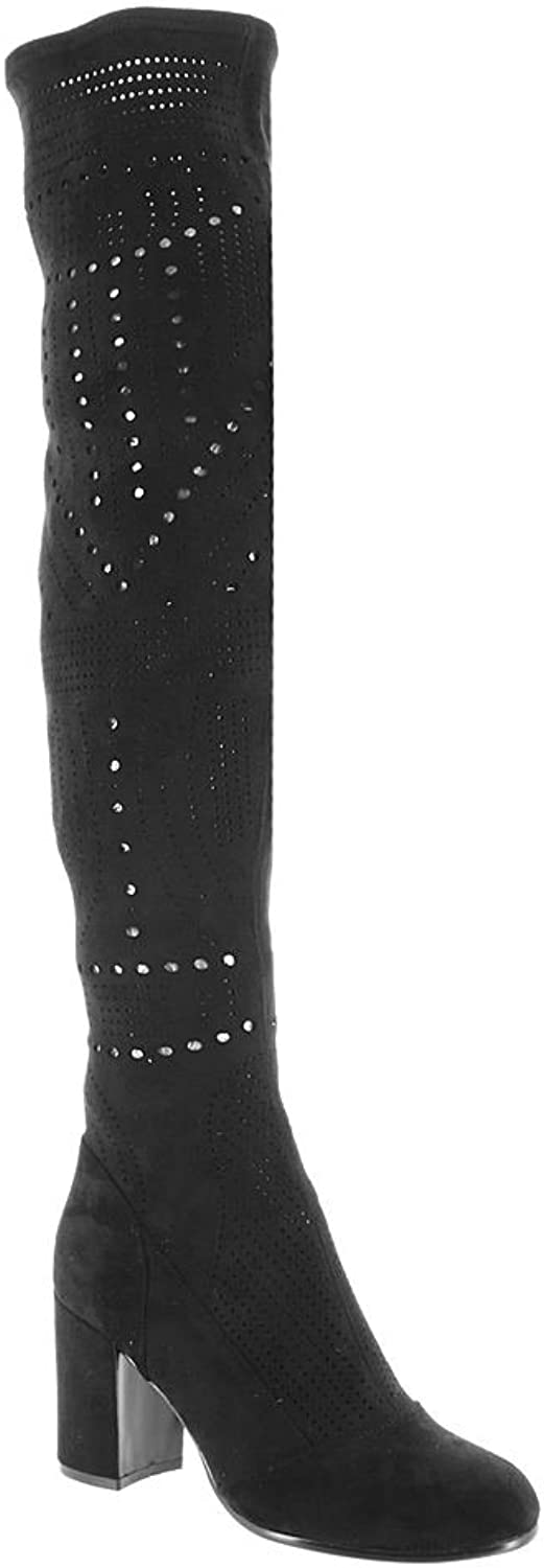 Silent D Womens Wanting Suede Closed Toe Over Knee Fashion Boots
