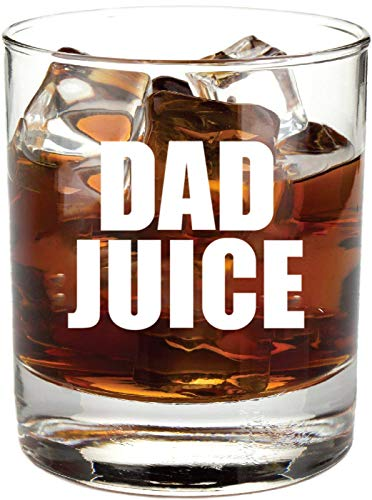 "Dad Gifts Funny -""Dad Juice"" Whiskey Glass - Fathers Day Gift Idea from Daughter, Son, Wife, Bourbon, Rocks, Who Has Everything, Cool, Expecting, Birthday, For Men, Cup, Best Dad"