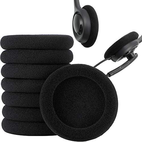 Frienda 10 Piezas de Almohadillas Auriculares de 2 Pulgadas Almohadilla de Espuma Reemplazo de Funda Auricular de Cojines Compatible con Auriculares Sony Philips (2.4 Puldagas)