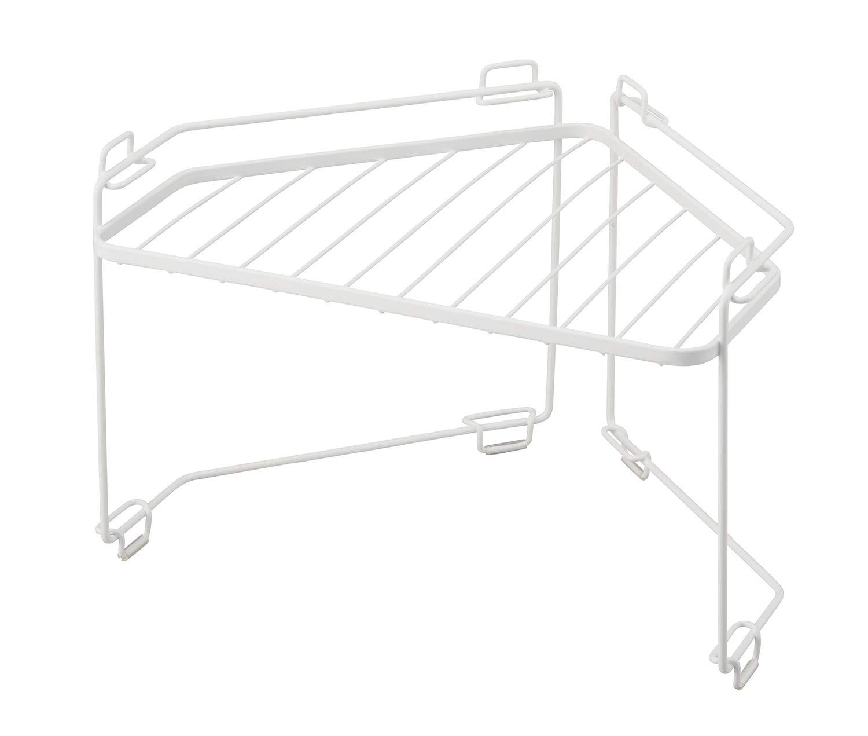天馬(Tenma) コーナーラック ホワイト 約33×25×21cm ファビエ