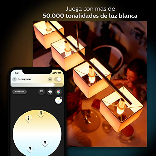 Philips Hue White and Color Ambiance - Bombilla LED (compatible con Amazon Alexa, Apple HomeKit y Google Assistant)