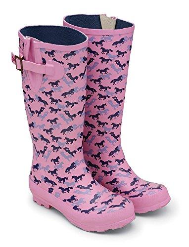 Tottie, Stivali da equitazione donna Rosa rosa 8 UK