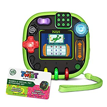 LeapFrog Rockit Twist Handheld Learning Game System Green and 2-Game Pack  Cookie s Sweet Treats and Dinosaur Discoveries
