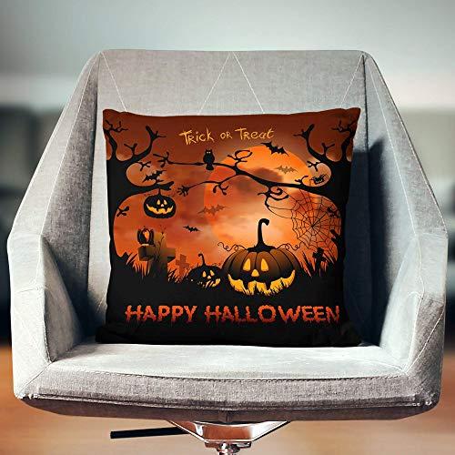 Lsjuee Funda de Almohada de 18 x 18 Pulgadas Funda de Almohada de Halloween, Funda de Almohada de Halloween, Decoración de Halloween, Funda de Almohada de Halloween, Funda de Almohada de Halloween,