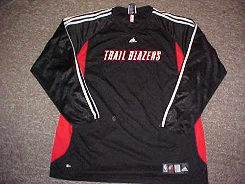 Jarrett Jack Portland Trailblazers Long Sleeve Game Worn Shooting Shirt