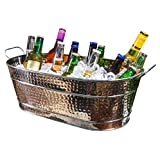 VERSATILITY: Whether you're a professional caterer working a wedding or throwing the best backyard cookout, this ice bucket is the perfect buy. This decorative bucket will look great in any indoor or outdoor venue. KEEP DRINKS COLD: Keep all of your ...