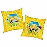 Biene Maja Bienenwabe   Kinder Kissen 40 x 40 cm K