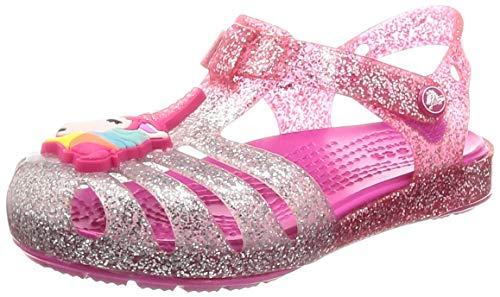 crocs Unisex-Kinder Isabella Charm Sandal K Clogs, Pink (Pink Ombre 6pd), 25/26 EU