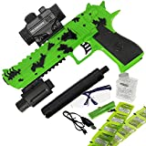 GELSOFT Water Gel Ball Crystal Blaster Gun Automatic Rapid Fire USB Eagle Pistol (Green)