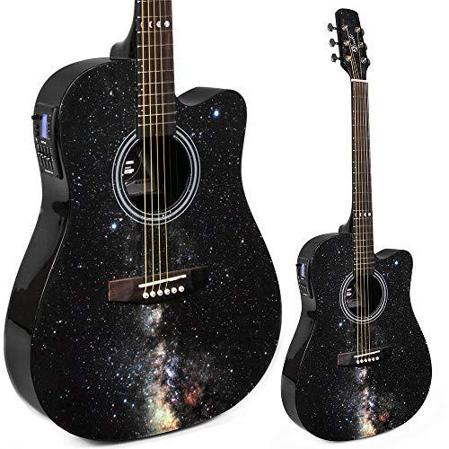Lindo Galaxy Slim Elektro-Akustik-Gitarre mit integriertem Tuner/Vorverstärker und Gigbag
