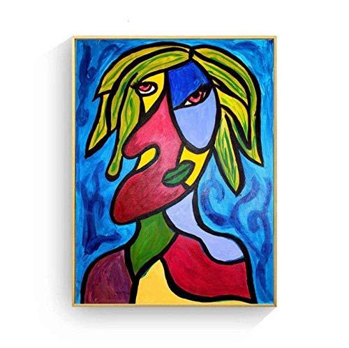 Picasso Vrouwen Abstract Canvaskunst Schilderij Poster Muur Foto Woonkamer Thuis Decoratieve Slaapkamer Decor 50 × 70 Cm Geen Frame