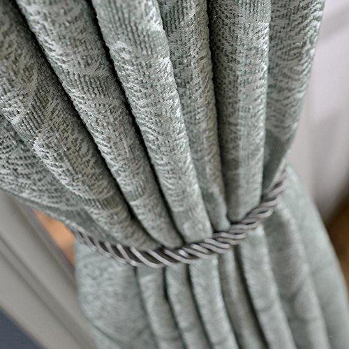 TINE HOME CURTAINS Traitements de fenêtre Rideaux et rideaux Chenille Jacquard Rideau Rideaux occultants pour Traitements de fenêtre Produit fini Haut à oeillets Un panneau, gray, 1pc(200*270 cm