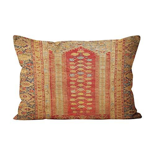 Suike Tribal Southwest Geometric Boho Decor Hot Hidden Zipper Home Decorative Rectangle Throw Pillow Cover Cushion Case Lumbar 12x24 Inch One Side Design Printed Pillowcase