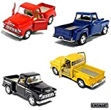 Set of 4 die-cast Chevy Stepside Pick-Up 1/32...