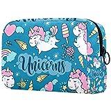 Bolsa de Maquillaje Organizador Small CosmeticBagsforWomen Travel Neceser Estuche de Maquillaje Monedero Bolso Unicorn Magic Vector Set Ilustración Colorida