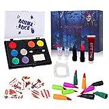 Auney Face Paint Kit for Kids, Halloween Makeup Large Water Based Paints 8 Colors Professional...
