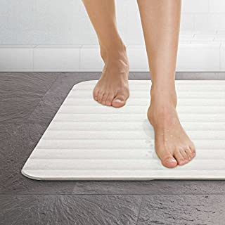 MICRODRY Drystone Absorbent Made with Real Stone for Super Fast Drying, Lightweight and Shock Resistant 18 x 23 Bath Mat, ...