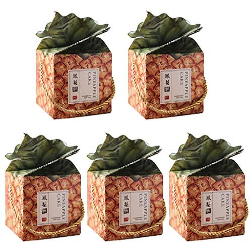 KerDejar 5 cajas de regalo de piña para dulces en 3D, grandes cajas de regalo de piña para fiestas