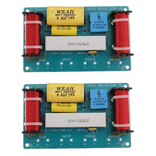 Sharplace 2pcs Diviseur Filtre Séparateur de fréquence Crossover De Haut-Parleur Audio