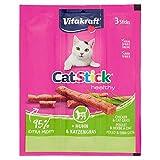 Vitakraft Stick - Mini golosinas de Pollo y Hierba para Gatos, 3 Piezas, Lote de 10