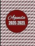 Agenda 2020-2025: Diseño Marrón tiempo - Planificador Mensual cinco años 2020 2021 2022 2023 2024 2025 Gran Calendario Tamaño Din A4 con 66 Meses para ... para regalo tanto para niños como adultos