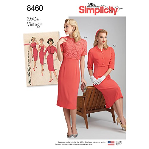 8460Pattern 8460 Women's Vintage Dress and Jackets, R5 (14-16-18-20-22)