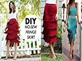 Do It Yourself How To Make A No Sew Fringe Skirt! Designer Hack By Orly Shani