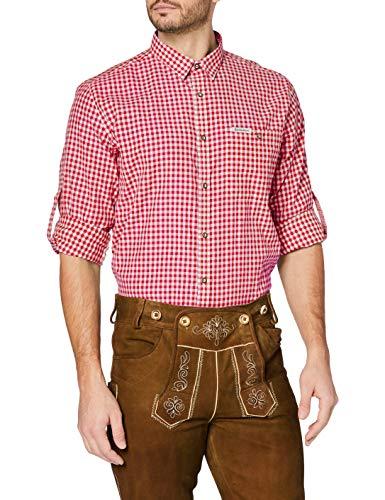 Stockerpoint Stockerpoint Herren Campos3 Trachtenhemd, Rot (Rot), Medium