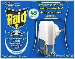 Raid Diffuseur Electrique Liquide Anti-moustiques 45 Nuits 27 ml parent
