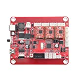 RATTMMOTOR GRBL Red Control Board 3 Axis USB Port CNC Engrving Machine Controller with USB Cable for DIY Mini CNC Machine