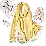 YMKXXB Schal Winter Frauen Schal Fashion Solid Weiche Schals Für Damen Pashmina Tücher Und Wraps...