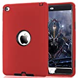 iPad Mini 4 Case, ZERMU 3in1 Heavy Duty Shockproof Rugged Cover Silicone+Hard PC Bumper High-Impact Shock Absorbent Resistant Armor Defender Full Body Protective Case for iPad Mini 4 2015 Model