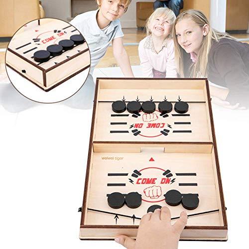 TXYFYP Zwille Tisch Hockey Party Spiel, Prellen Schach Hockey Spiel Tisch Desktop Kampf 2 in 1 Ice Hockey Spiel Ice Hockey Interaktiv Spiel - Wie abgebildet, Free Size