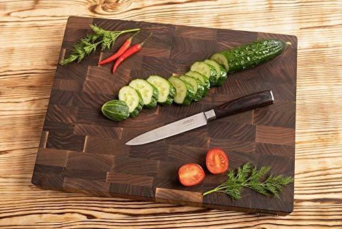 Walnoot snijplanken MTM hout, keuken snijplanken verschillende grootte en dikte 3 en 4 cm. Perfect om vlees, groenten, kaas, brood te hakken 40 x 30 x 3 cm DONKERBRUIN