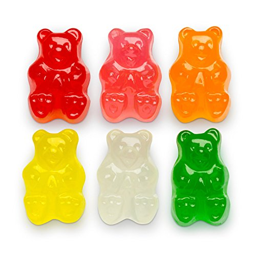Andy Anand Old Fashioned Sugar Free Gummy Bears Mixed Flavors, Gift Boxed & Greeting Card Delicious-Yummy-Divine Birthday Valentine Christmas Holiday Mothers Fathers Day Anniversary Corporate Gifts (1 lbs)
